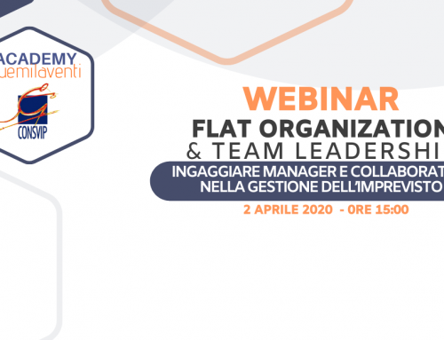 "30 marzo 2020 – WEBINAR ""FLAT ORGANIZATION & TEAM LEADERSHIP"""